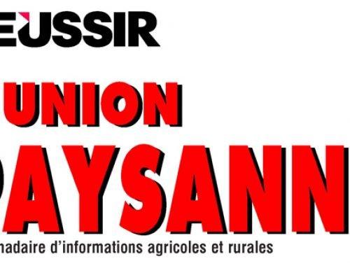 Réussir L'Union Paysanne – Innovation, LINNOVATION ET LES STARTUPS AU SERVICE D'UNE AGRICULTURE PLUS PERFORMANTE