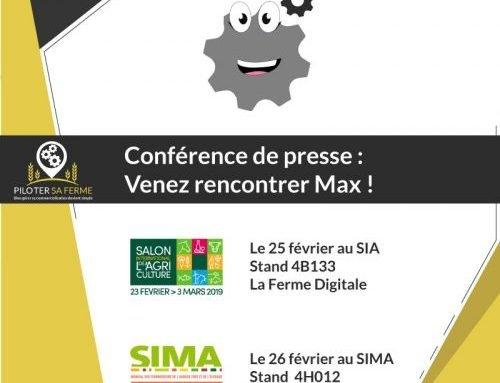 MAX le nouvel ami des agriculteurs – Invitation SIA & SIMA 2019 – Communiqué de presse